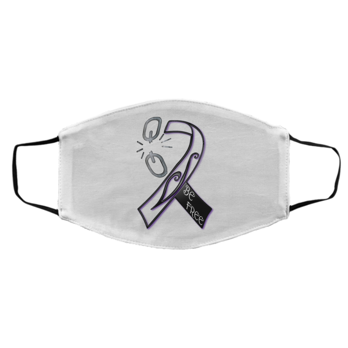 Recovery Ribbon Med/Lg Face Mask Black or White